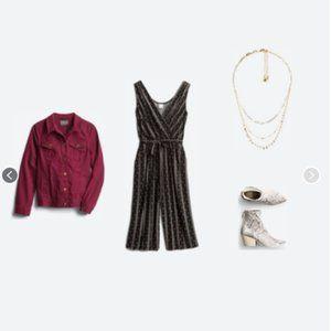 KAILEIGH Ora Knit Crop Jumpsuit - Black